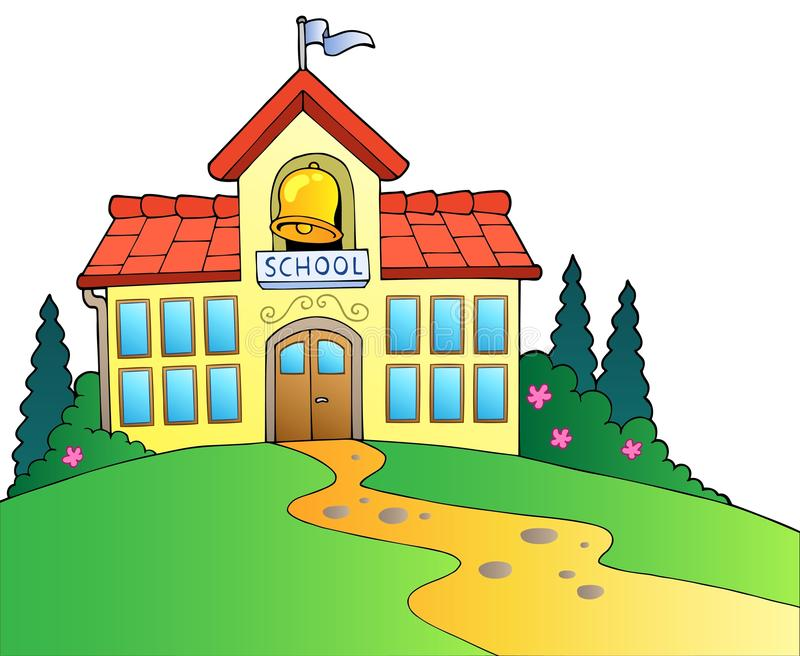 Big school building royalty free illustration