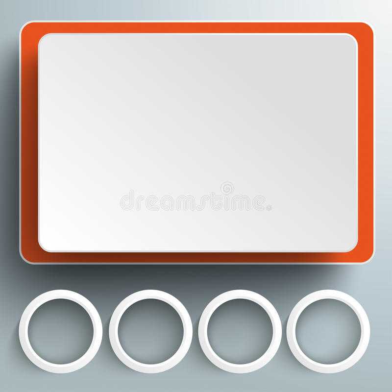 Big Screen Rectangeles 4 Rings PiAd. Rectangles on the grey background. Eps 10 file royalty free illustration