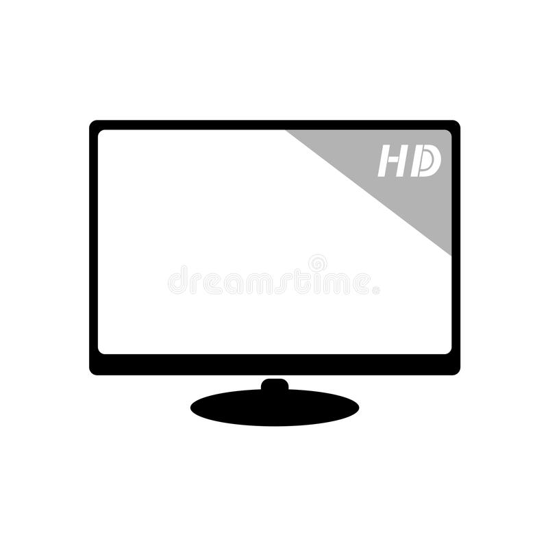 Download Big screen television stock vector. Image of wide, digital - 83722504