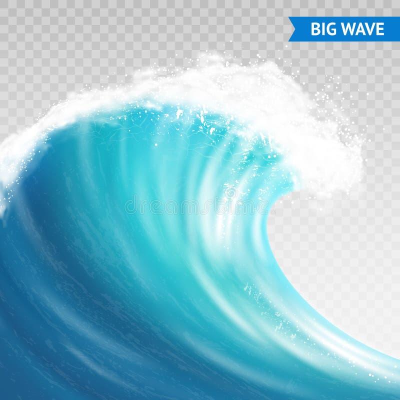 Big Wave On Transparent Background Stock Vector ...