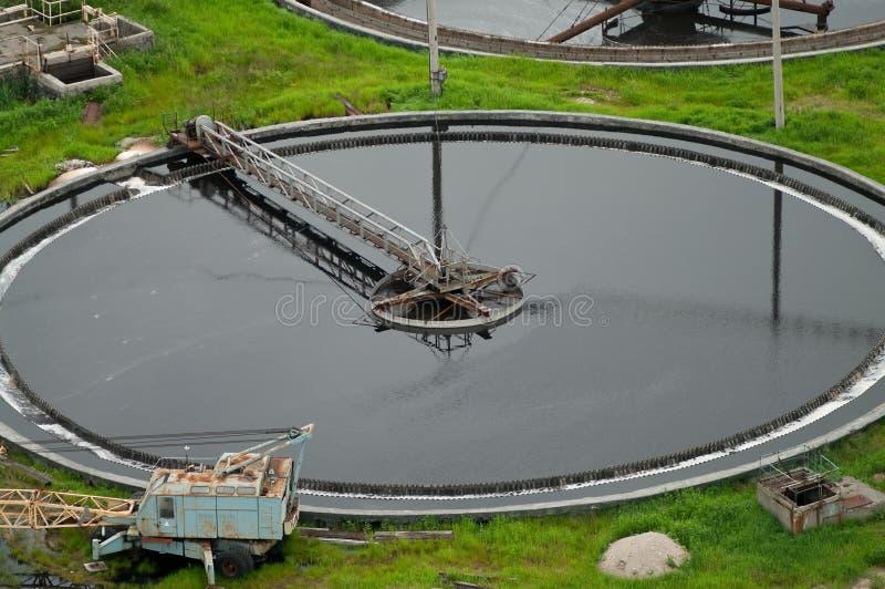 Big sedimentation drainage round form royalty free stock image