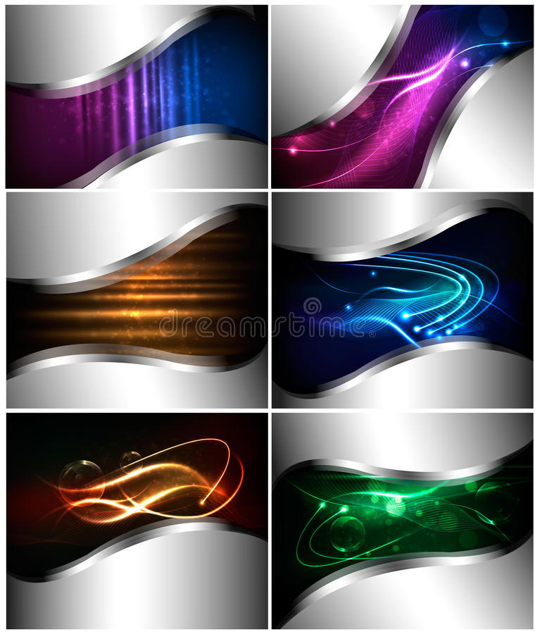 Big set of abstract technology backgrounds. Vector illustration stock illustration