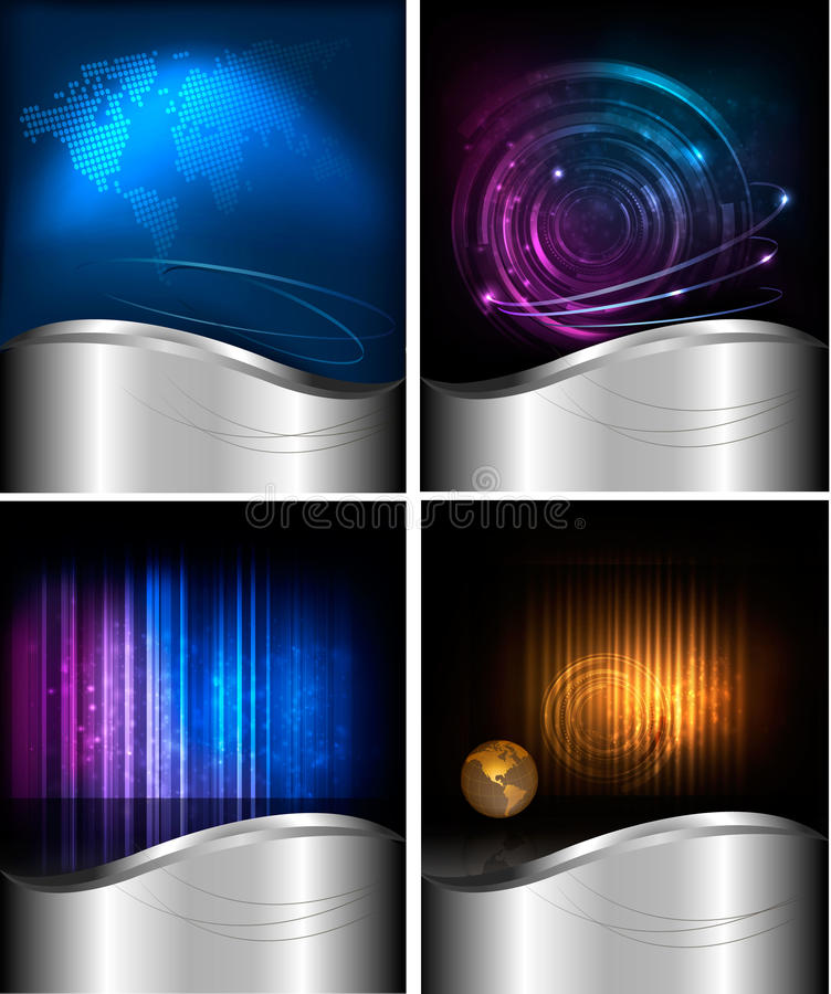 Big set of abstract technology backgrounds. Big set of abstract technology and business backgrounds. Vector illustration stock illustration