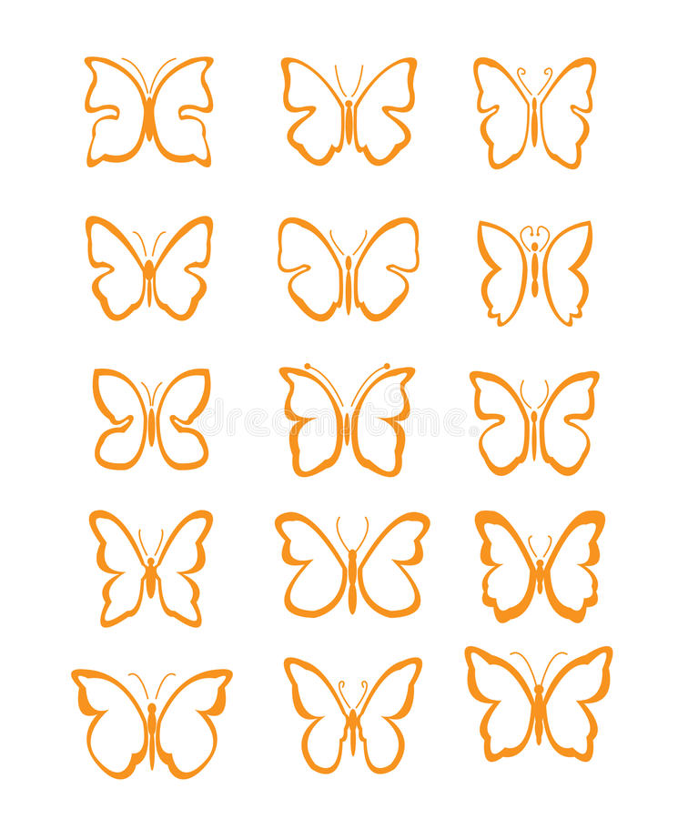 Download Big set butterfly stock vector. Image of beauty, black - 23907833