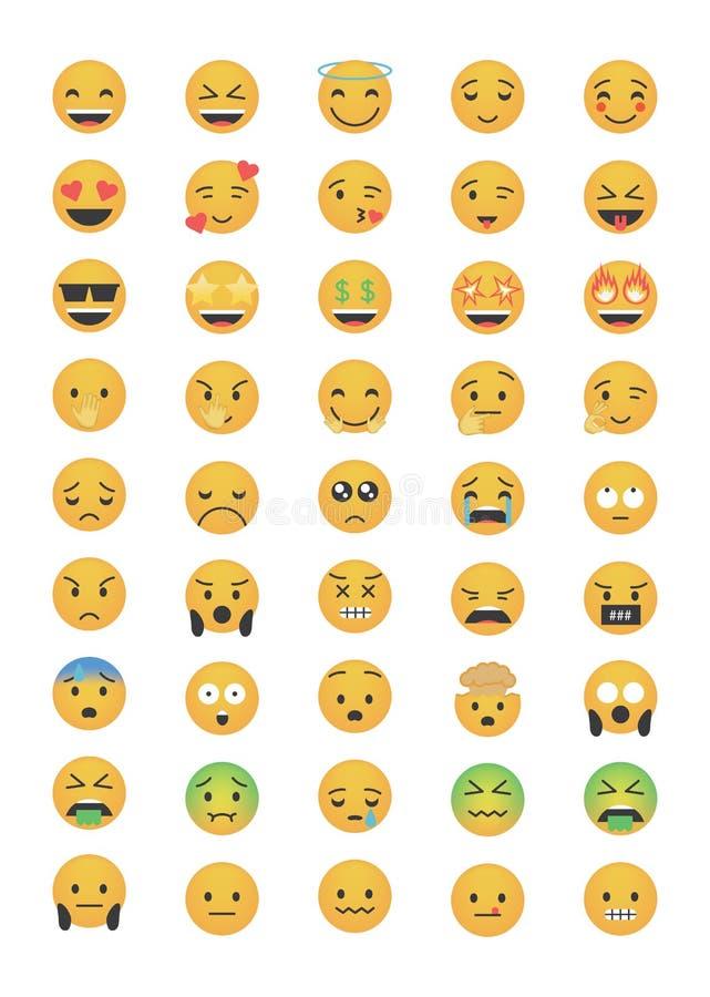 Big set of emoticon vector stock illustration