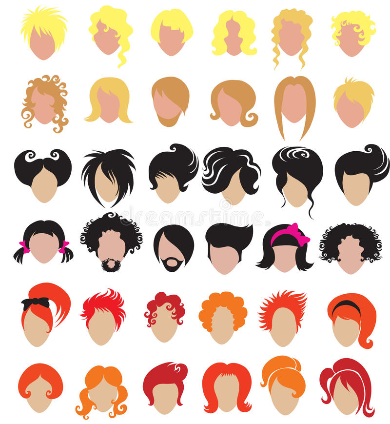 Download Big set of hair styling stock vector. Image of hairdresser - 11934317