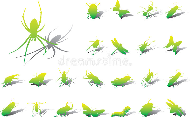 Download Big Set Icons - 10A. Insects Stock Vector - Image: 6812691