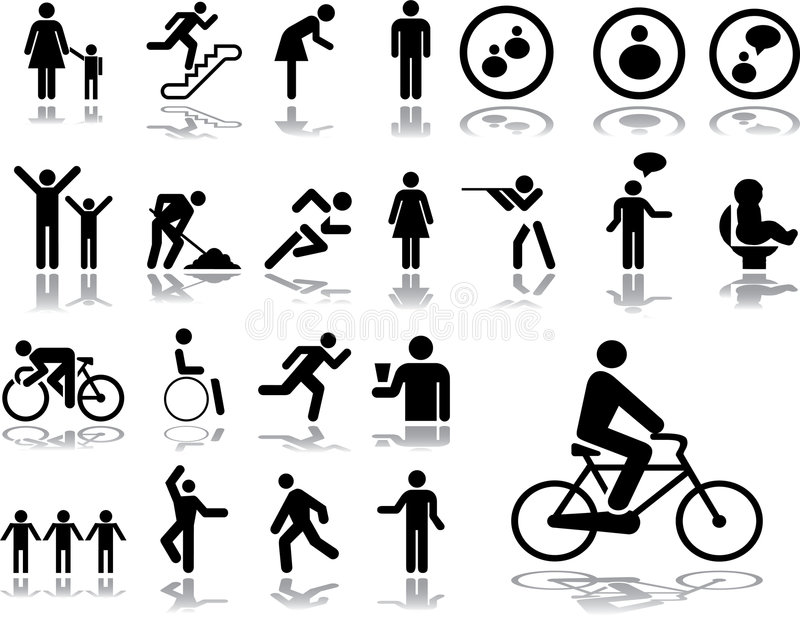 Big set icons - 3. People. Set of 23 vector icons for web