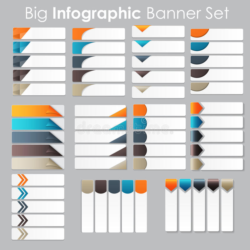 Big Set of Infographic Banner Templates for Your vector illustration