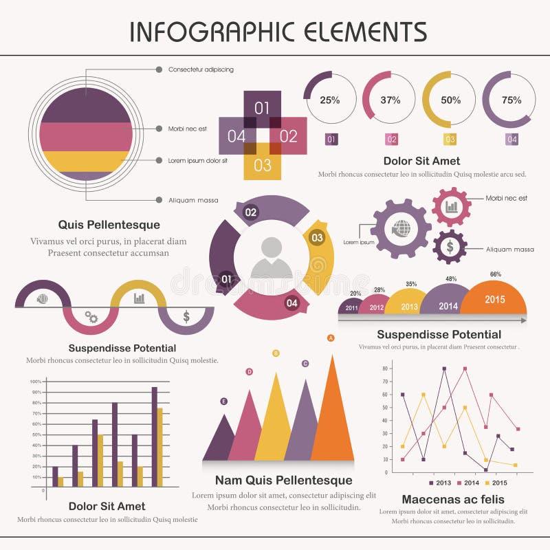 Big set of infographic elements. A big set of various infographic elements for business stock illustration