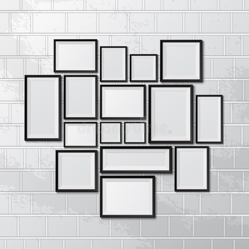 Big set of picture frames stock illustration