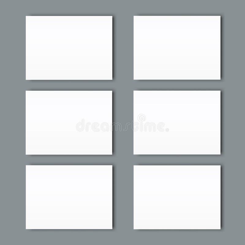 Big set of Poster blank bi fold brochure mockup cover template royalty free illustration