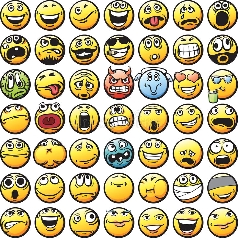 Big set of smilies royalty free illustration