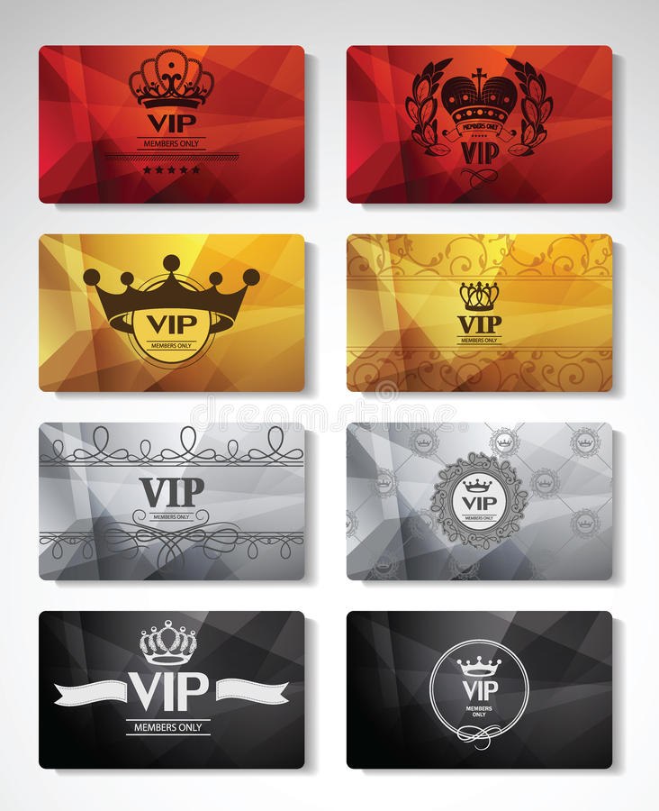 Big set of VIP cards. Big set of colorful VIP cards vector illustration