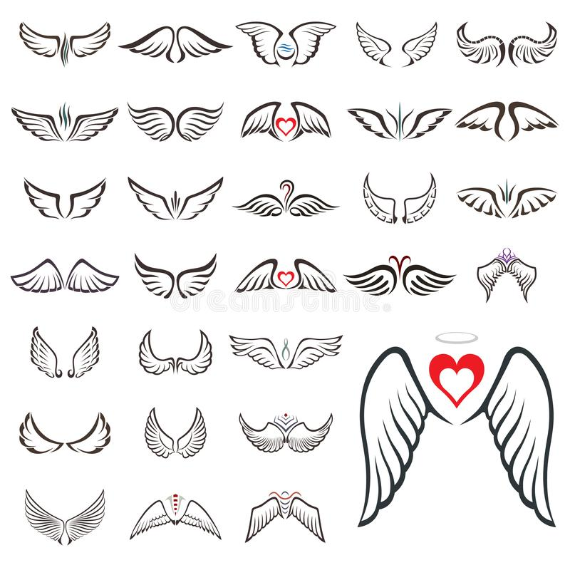Big set with wings stock photography