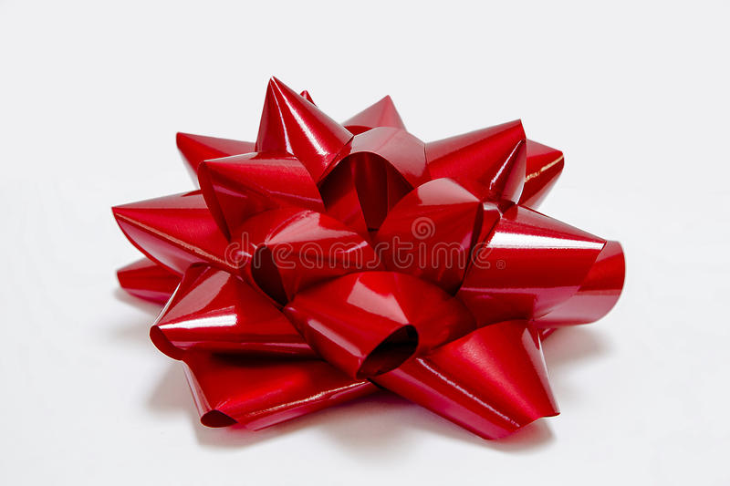 Big Shiny Red Bow royalty free stock images