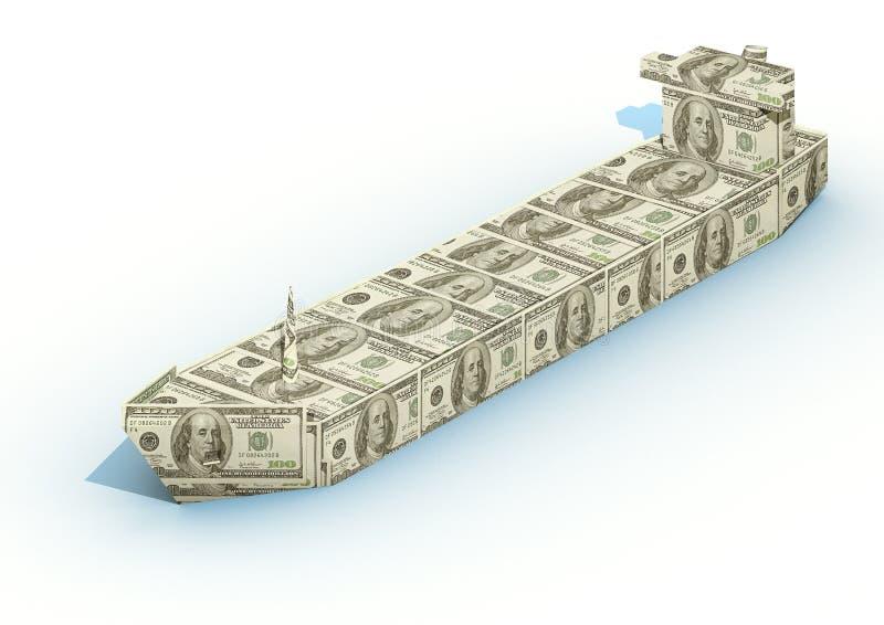 Big ship from dollar stock photo