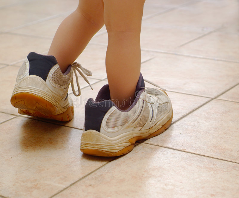 Big Shoes 1 royalty free stock image