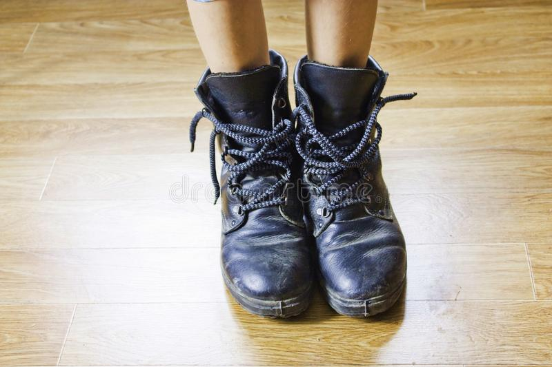 Big shoes royalty free stock photography