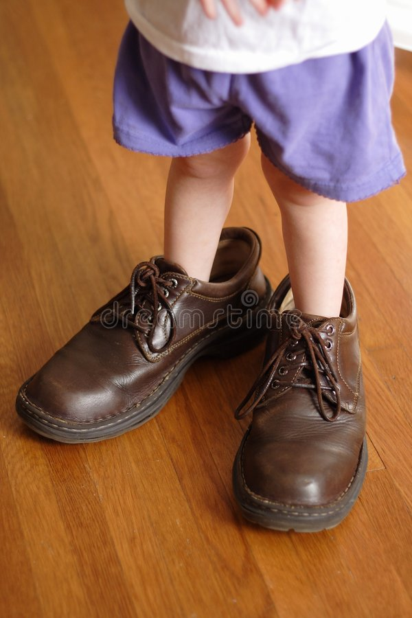 Big Shoes to Fill stock image