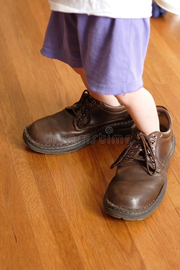 Big Shoes to Fill stock photography