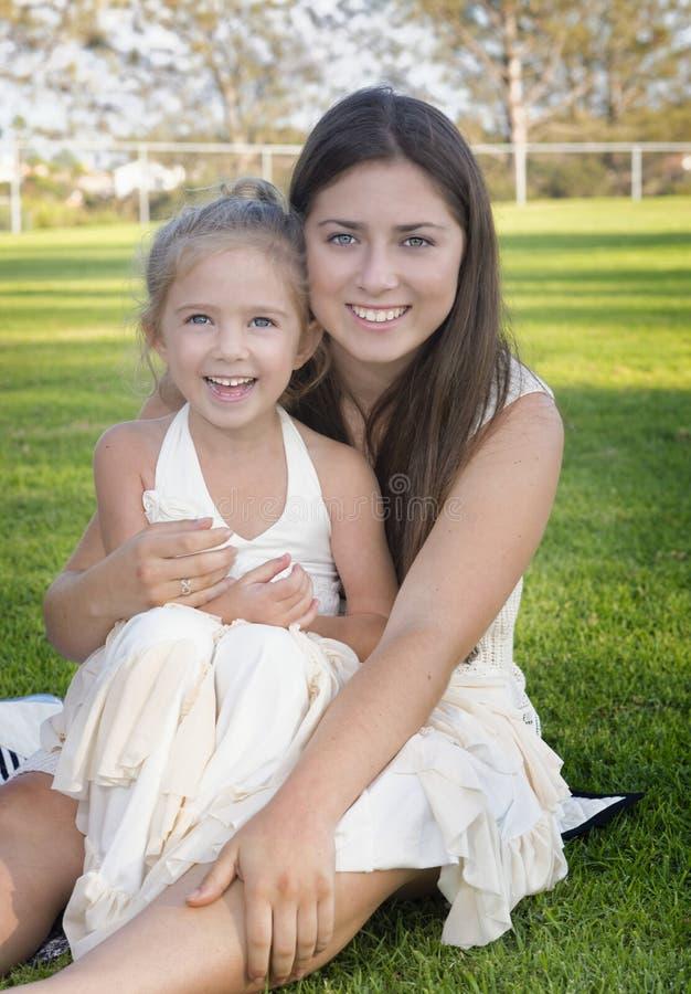 Big Sister, Little Sister Having Fun royalty free stock photos