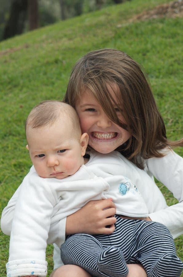 Download Big sister love stock photo. Image of sister, kids, happy - 20190182