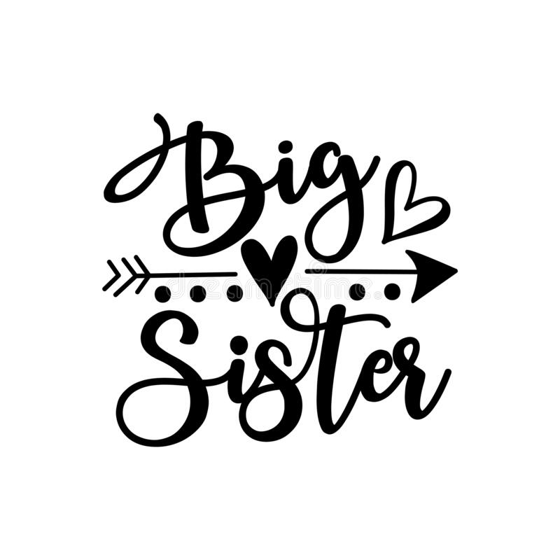 Free Big Sister - Text With Arrow Symbol Stock Images - 196409134