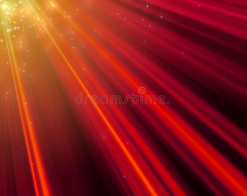Big size Christmas and New Year mood red light rays background stock photography