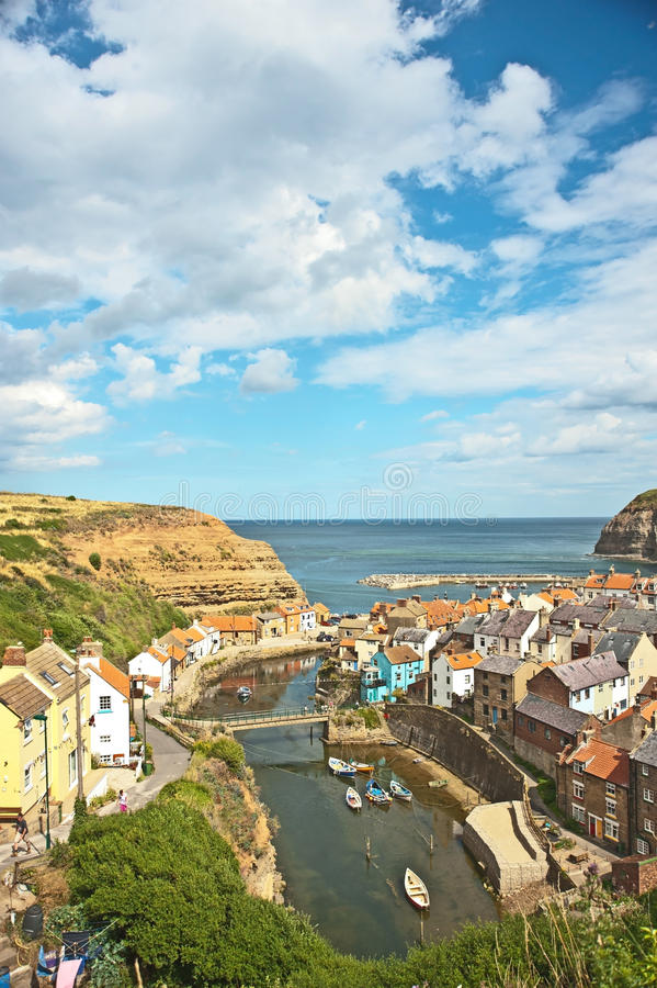 Free Big Sky At Staithes Royalty Free Stock Photos - 33672738