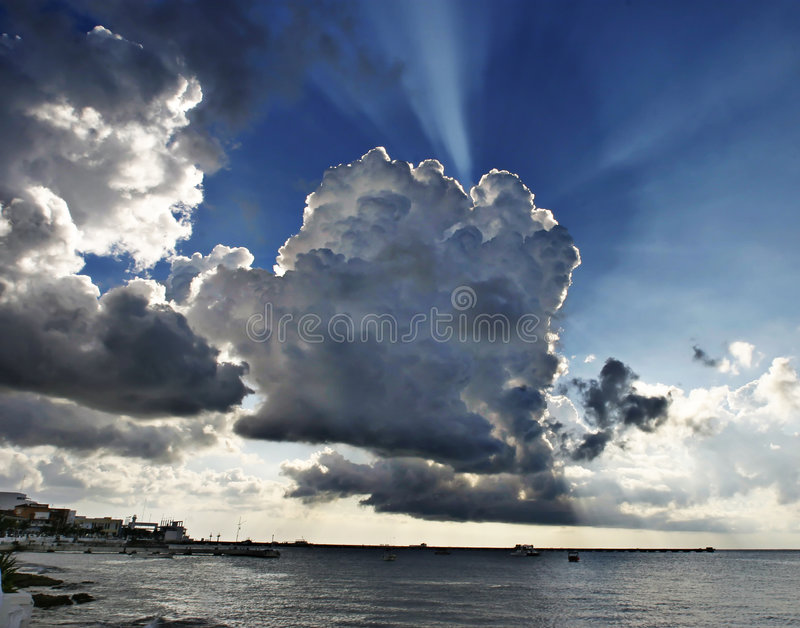 Download Big sky over Cozumel stock photo. Image of open, cumulus - 166534