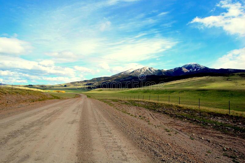 Download Big Sky Road stock image. Image of clouds, path, white - 14802007