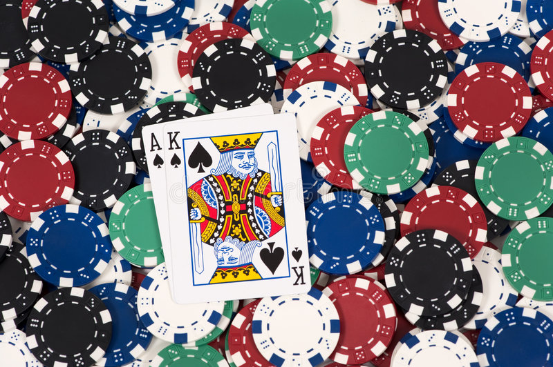 Download Big slick on chips stock photo. Image of holdem, entertainment - 8223126