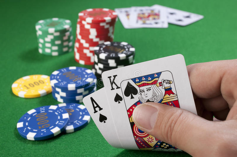Download Big Slick With Gambling Chips Stock Photo - Image: 22907850