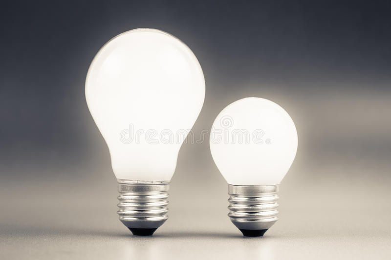 Big and Small Bulbs stock photo