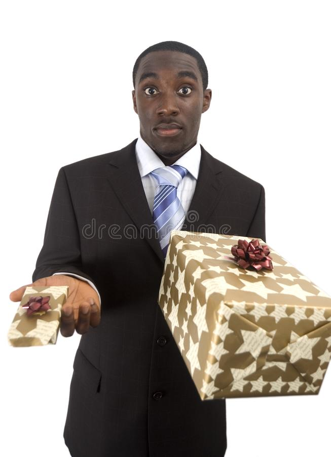 Big or Small Gift? stock photography