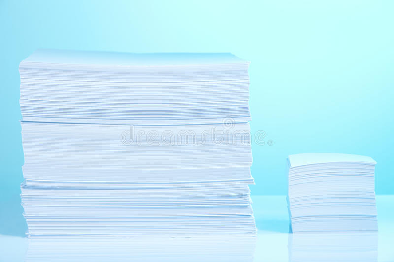 Download Big and small paper piles stock image. Image of stationery - 20080111