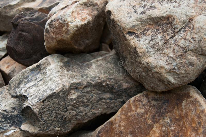 Big and small stones. The mountains. The texture of the stone. stock image