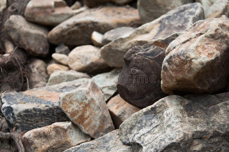Big and small stones. The mountains. The texture of the stone. stock photography