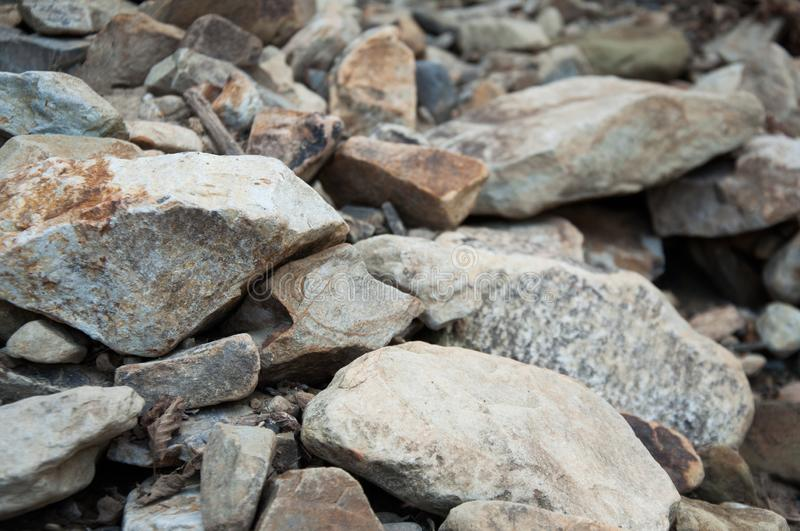 Big and small stones. The mountains. The texture of the stone. royalty free stock photos