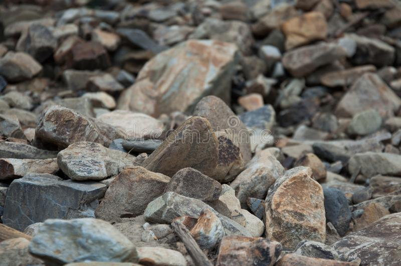 Big and small stones. The mountains. The texture of the stone. stock photos