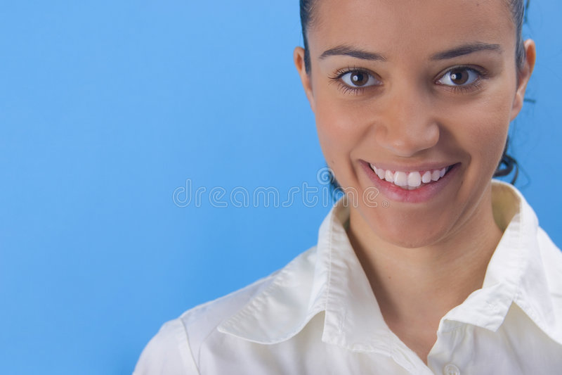 Download Big smile stock image. Image of female, pleased, fingers - 2958637