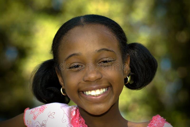 Download Big Smile stock photo. Image of american, black, brunette - 5276424