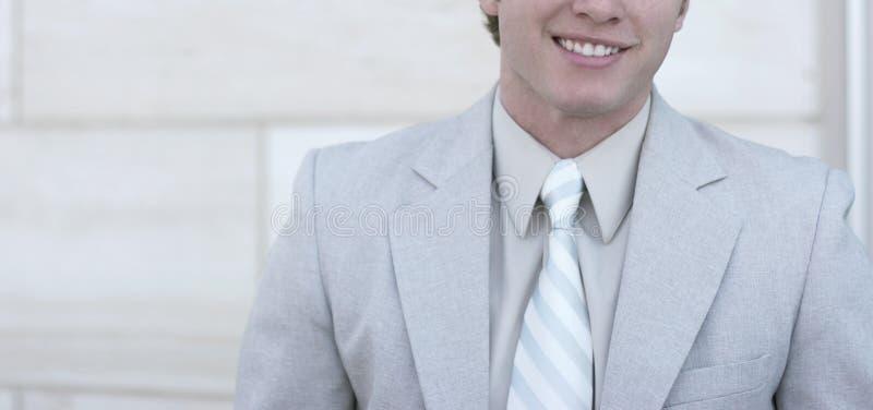 Big smile on business man stock photos