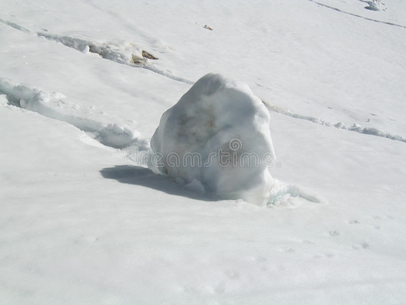 Big snowball royalty free stock photo