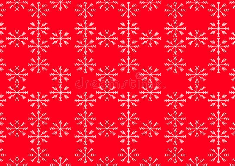 Big snowflake with red and white color. Vector Illustration EPS 10 royalty free illustration
