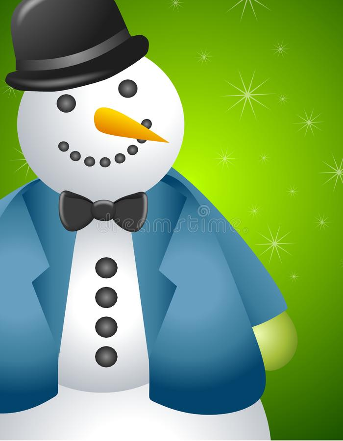 Big Snowman Border 2 royalty free stock photo