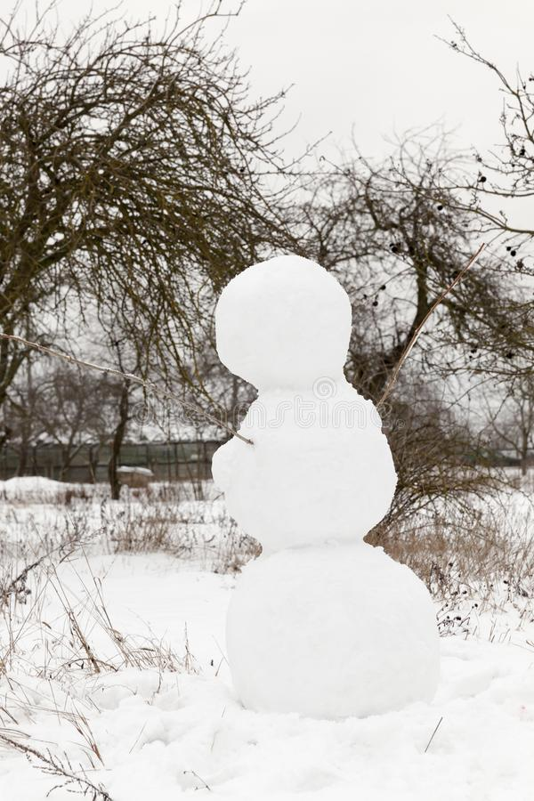 Big Snowman lizenzfreies stockbild