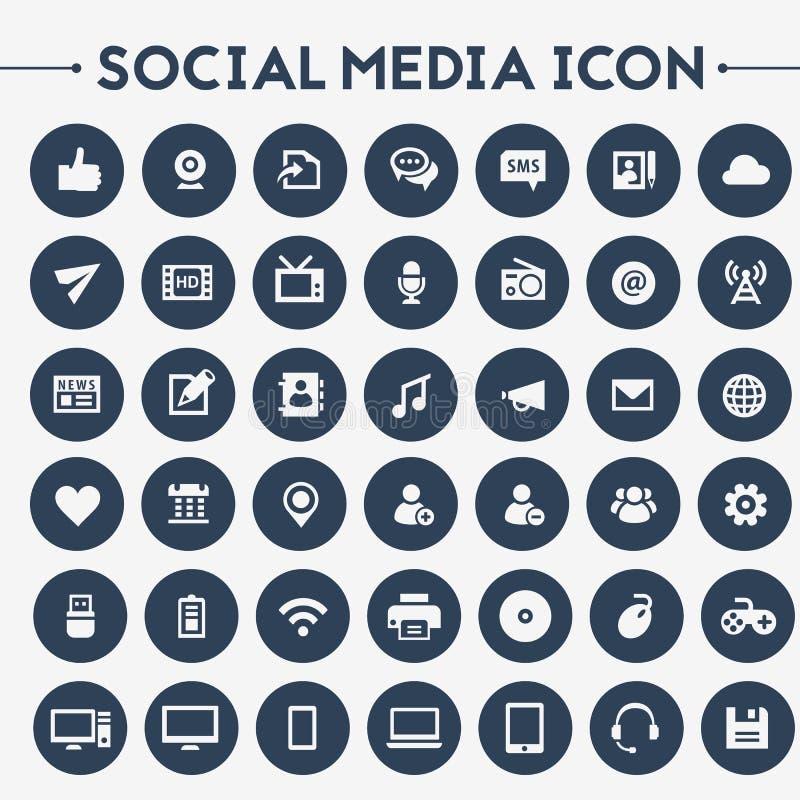 Big Social Media icon set vector illustration