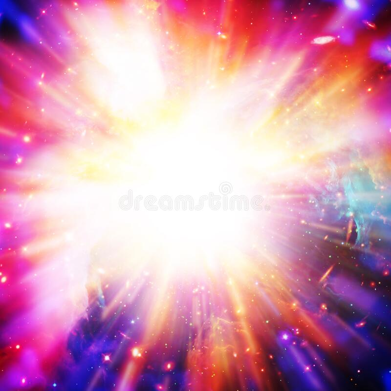 Free Big Splash In Universe. Space Background. Colorful Lights.The Elements Of This Image Furnished By NASA Royalty Free Stock Image - 179881586